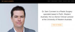 Dr. Sam Cunneen, Plastic Surgeon in Perth