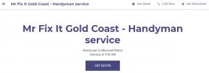 Mr Fix It Handyman Services in Gold Coast