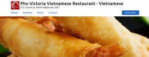 Pho Victoria Vietnamese Restaurant in Melbourne