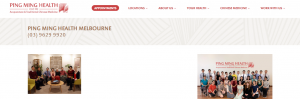 Ping Ming Health Acupuncture Clinic in Melbourne
