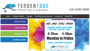 Tender Edge Printing Services in Canberra