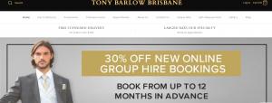 Tony Barlow Formal Wear in Brisbane