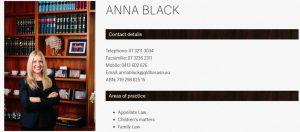 Anna Black, Barrister in Brisbane
