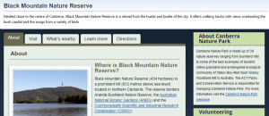 Black Mountain Nature Reserve Hiking Trails in Canberra