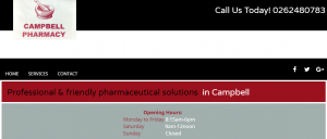 Campbell Pharmacy in Canberra