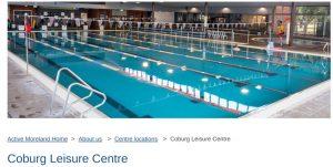 Coburg Leisure Center Pool in Melbourne
