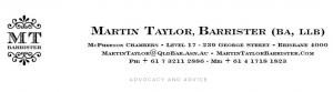 Martin Taylor, Barrister in Brisbane