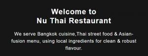 Nu Thai Restaurant in Adelaide