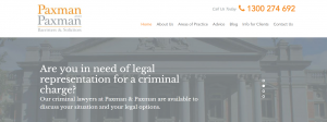 Paxman and Paxman Criminal Lawyers in Perth