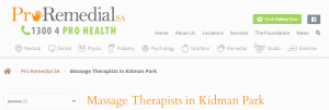 Pro Remedial Massage Therapists in Adelaide