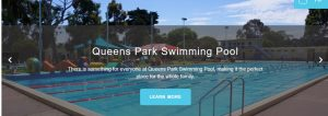 Queens Park Swimming Pool in Melbourne