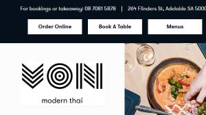 VON Thai Restaurant in Adelaide