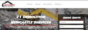 Watson Demolition Services in Newcastle