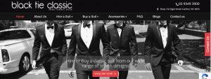Black Tie Classic Formal Wear Store in Melbourne