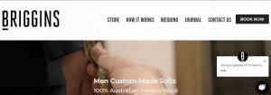 Briggins Suit Shop in Melbourne