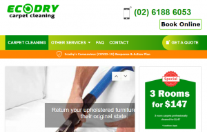 Ecodry Carpet Cleaning in Canberra
