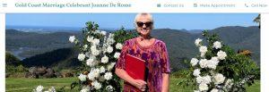 Joanne De Rome Marriage Celebrant in Gold Coast