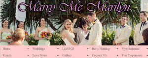 Marry Me Marilyn Marriage Celebrant in Gold Coast