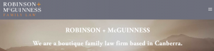 Robinson + McGuinness Family Law in Canberra