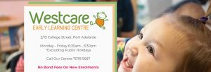 Westcare Early Learning Centre in Adelaide