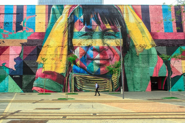 A large mural by a mural painter in Sydney.
