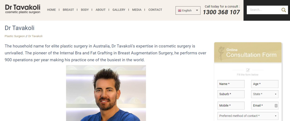 Surgeons Australia breast surgery