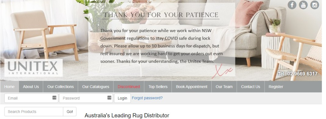 Supplier of rugs Australia