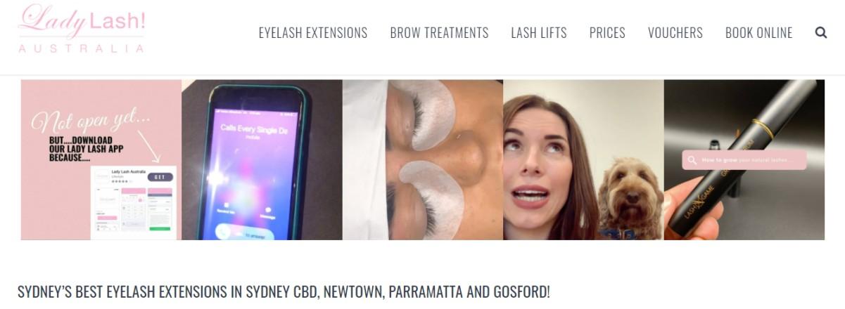 Lash extensions specialist Sydney