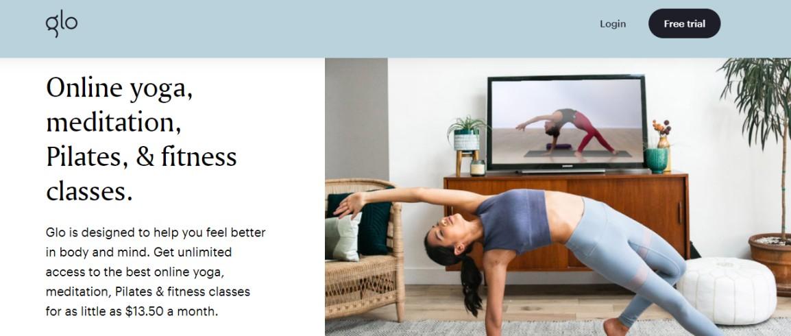 Online courses teaching yoga