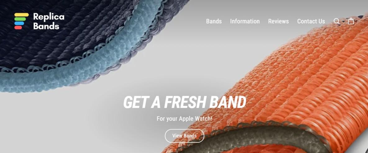 Website for premium Apple watch bands
